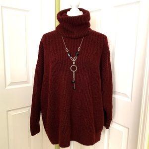 Zara knit oversized turtleneck chunky sweater L